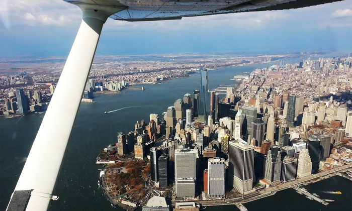 NYC Air Service - Linden: NYC, East or South of Linden Sightseeing Flight for Two or Introductory Flight from NYC Air Service (56% Off)