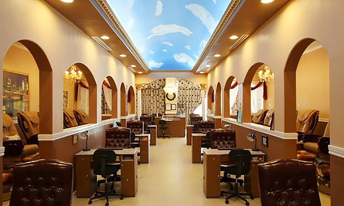 Manicures Pedicures And Waxing Prada Nails Spa Livingsocial