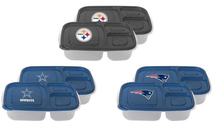 NFL Lunch Containers (2-Pack)