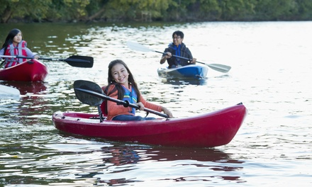 Three-Hour Rental of a Single or Tandem Kayak or a Paddleboard from River Canyon Adventures (Up to 52% Off)