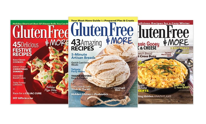 """Gluten-Free Food Magazine: $12 for a One-Year Subscription to """"Gluten Free"""" Magazine ($23 Value)"""