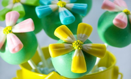 One dozen flower cake pops