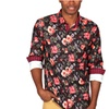 Men's Floral Print Button-Down Shirts