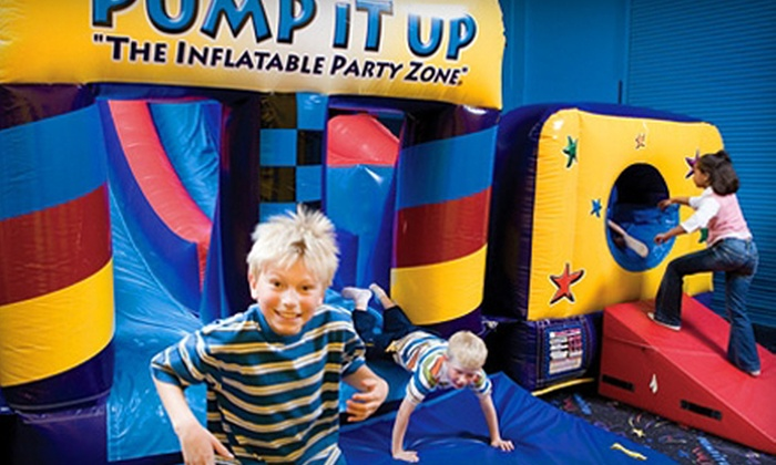 Pump It Up - Ridgmar: 5 or 10 Pop-In Play Sessions or 90-Minute Party for Up to 10 Kids at Pump It Up Fort Worth (Up to 64% Off)
