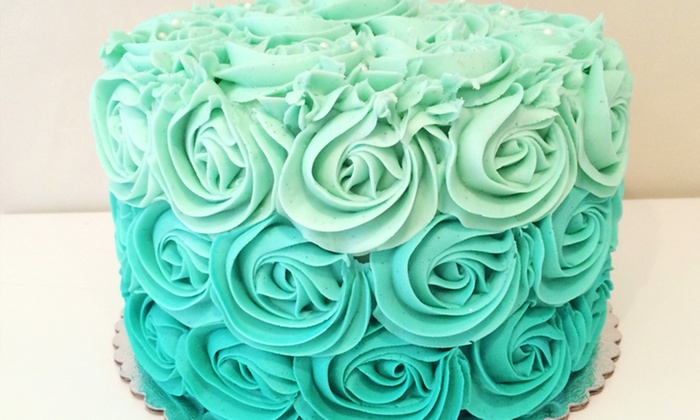 Twelve Cakes Bakery & Scottsdale Cakery - North Mountain: $30 for One 8-Inch Round Signature Rosette Cake from Twelve Cakes Bakery & Scottsdale Cakery ($48 Value)