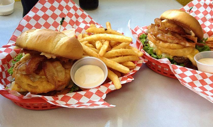 Burger Hero - Whittier Heights: $12 for $20 Worth of Dinner for Two at Burger Hero