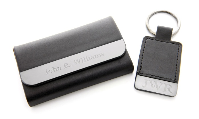 Monogram Online: $29.99 for a Personalized Card Case and Key Chain from Monogram Online ($59.99 Value)