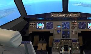AIRBAR: 30 oder 60 Minuten im Flugsimulator A320 selbst fliegen inkl. Softgetränke und Einweisung von AIRBAR