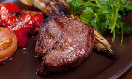 Brazilian Steakhouse Dinner for Two or Four at Blue Charcoal (47% Off)