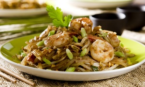 Tiparos Thai Cuisine & Sushi Bar: $14 for $20 Worth of Thai Food and Sushi for Two or More at Tiparos Thai Cuisine & Sushi Bar