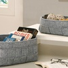 Set of Two Woven Felt Storage Baskets