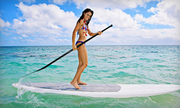 Sup Diego! - Pacific Beach: Two-Hour Standup-Paddleboard Tour of Mission Bay for One or Two from Sup Diego! (Up to 59% Off)