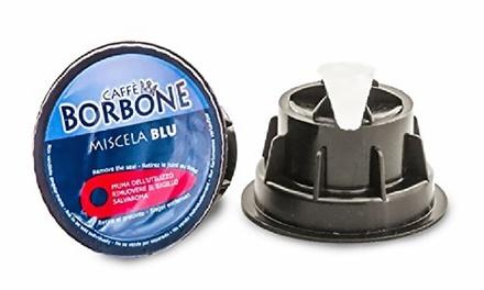 Fino a 180 capsule Blu di caffè Borbone, compatibili Dolce Gusto