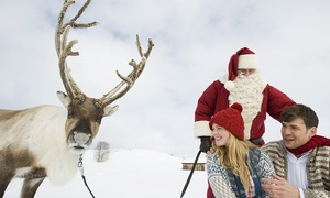 Barn Farm Educational Working Farm: Adult and Child Entry to Meet Santa and His Real Reindeer at Barn Farm Educational Working Farm