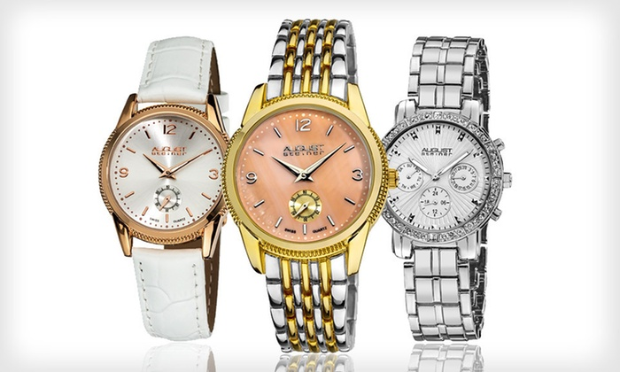 August Steiner Men's and Women's Watches: August Steiner Men's and Women's Watches (Up to 89% Off). 16 Styles Available. Free Shipping and Free Returns.