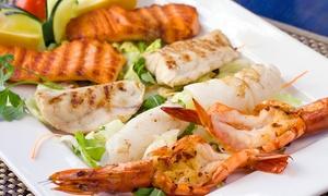 Squalo Bianco: Cena con 1 kg di frittura o grigliata di pesce e vino (sconto fino a 77%)
