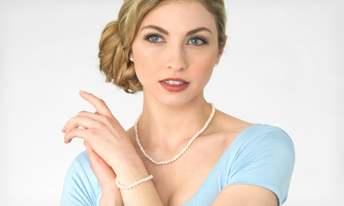 Pearl Necklace, Bracelet, and Earrings: $14.99 for a Cultured Freshwater Pearl Necklace, Bracelet, and Earrings Set ($75 List Price). Free Returns.
