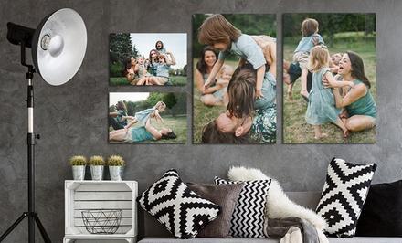2 ou 4 toiles personnalisables, format au choix chez Photo Gifts Shop dès 10,99 € (jusqu'à 85% de réduction)