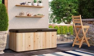 Suncast 120-Gallon Cedar & Resin Deck Box