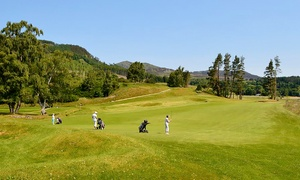 Pitlochry Golf Ltd: Day of Golf for One or Two with 25 Practice Balls and a Main Meal Each at Pitlochry Golf (Up to 62% Off)