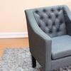 Tufted Accent Chair in Beige or Gray