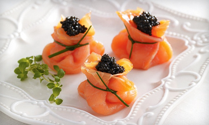 Petrossian - West Hollywood: Four-Course Prix Fixe French Dinner for Two or Four with Caviar and Vodka Flutes at Petrossian (54% Off)