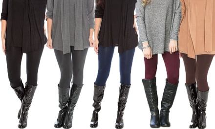 Fleece Lined Leggings in Choice of Colour: One Pair $12, Two Pairs $19 or Four Pairs $29 Don't Pay Up to $156