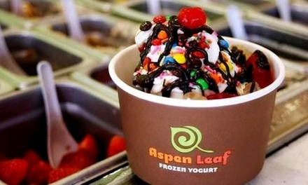 $12 for Four Groupons, Each Good for $5 Worth of Frozen Yogurt at Aspen Leaf Yogurt ($20 Value)