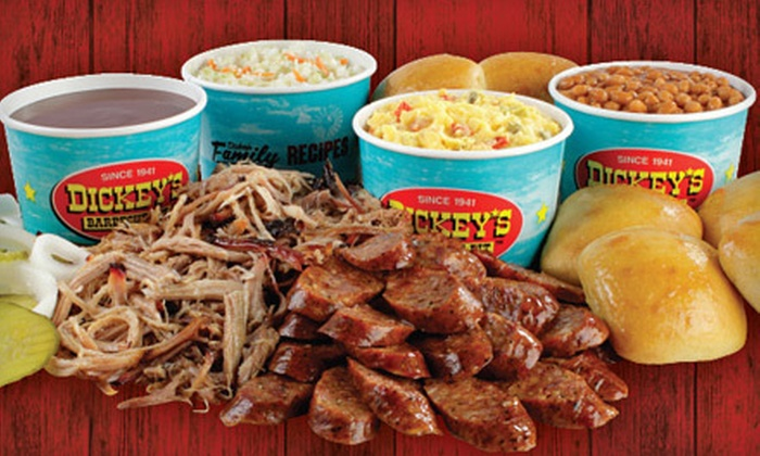 Dickey's Barbecue Pit - Multiple Locations: Barbecue Meal for Two or Four with Sides and Drinks at Dickey's Barbecue Pit (Up to 52% Off)