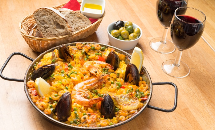Tapas or Paella with Drinks for Two or Four, Multiple Locations at Jamon Jamon (Up to 52% Off)