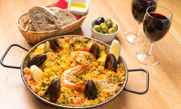 Jamon Jamon - Multiple Locations: Tapas or Paella with Drinks for Two or Four at Jamon Jamon, Four Locations (Up to 40% Off)
