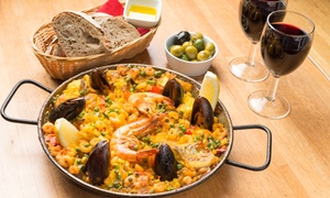 Jamon Jamon: Tapas or Paella with Drinks for Two or Four, Multiple Locations at Jamon Jamon (Up to 52% Off)