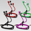 Zip-Up Earbuds with Built-In Microphone and Audio Controls