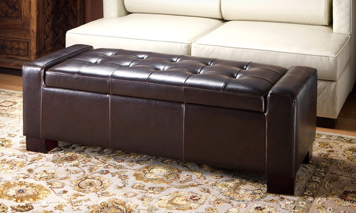 Remarkable 98 99 For A Great Deal Furniture Rothwell Brown Leather Storage Ottoman 209 List Price Free Returns Gamerscity Chair Design For Home Gamerscityorg