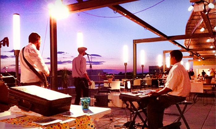 Rockville Rooftop Live - Central Rockville: Live Music Package for Two with Beer Bucket and Hummus at Rockville Rooftop Live (Up to $52 Value)