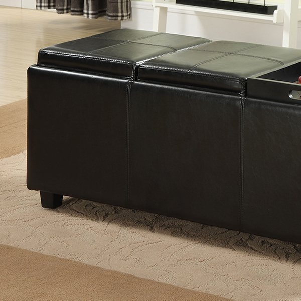 Storage Ottoman Serving Trays