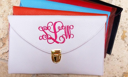 $19.99 for Custom Monogrammed Clutch Purse from Social Monograms ($48 Value)