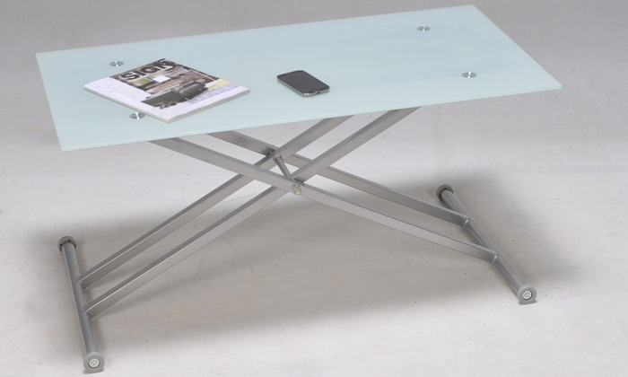 Table basse multipositions groupon shopping - Table hauteur modulable ...