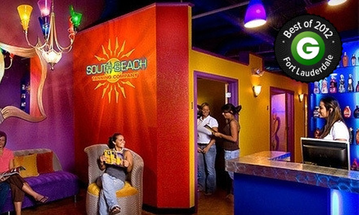 South Beach Tanning - Multiple Locations: One Month of Unlimited Level 3 UV Tanning or Three Spray Tans at South Beach Tanning (Up to 70% Off)