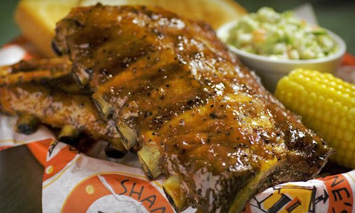 Shane's Rib Shack - Multiple Locations: Dine-In or Catered Barbecue Fare from Shane's Rib Shack (Half Off). Choose from Two Locations.