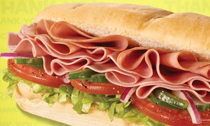 Subway - St. Albans: Regular Footlongs or Regular 6-Inch Sub Sandwiches at Subway (Up to 54% Off)
