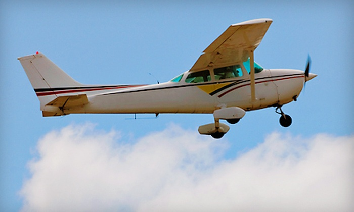 Top-Notch Aviation - South Franklin: Discovery Flight Lesson or Romantic Tour for Two from Top-Notch Aviation in Washington (Half Off)