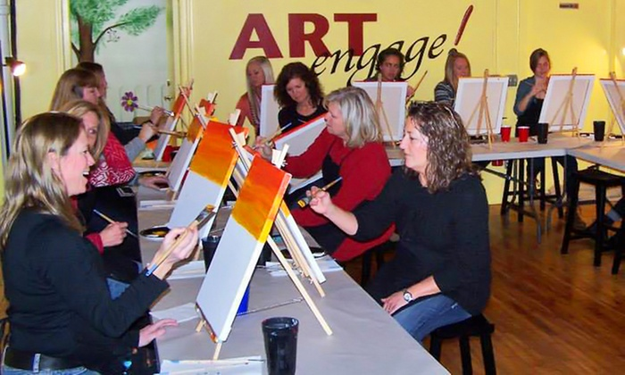 ARTengage! - Grand Rapids: Two-Hour Painting Classes for One or Two at ARTengage! (Up to 40% Off)