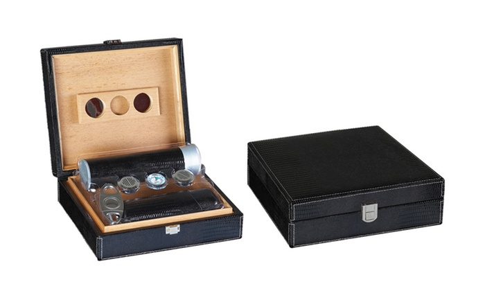 Prestige Imports Humidor Gift Sets: Prestige Imports Humidor Gift Sets. Multiple Sets Available from $54.99–$129.99. Free Shipping.