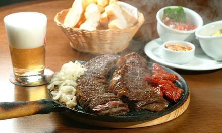 Menú rodizio para 2 o 4 con buffet libre de carne y acompañamientos, postre y café desde 25,95 € en La Posada de Brasil