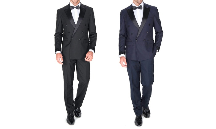Braveman Slim Fit Double Breasted Tuxedos (2-Piece)