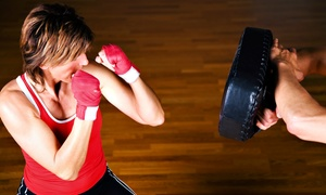 Academy of Brian Johnson: Muay Thai or Cardio Kickboxing Classes at Academy of Brian Johnson (Up to 72% Off). Three Options Available.