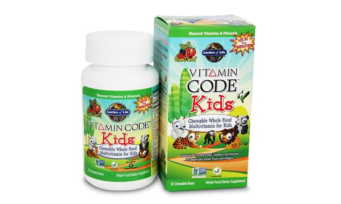 Kids multivitamin 30 chewables groupon goods - Garden of life vitamin code kids ...