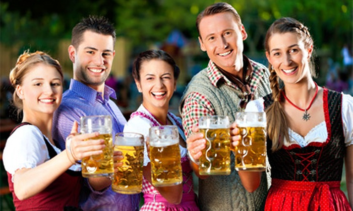 The Upland Brewing Company - Military Park: Upland Oktoberfest for Two with Custom Steins from The Upland Brewing Company (Up to 52% Off)