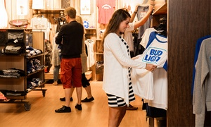 Anheuser-Busch Brewery: $30 for $50 Worth of Apparel and Accessories from the Gift Shop at Anheuser-Busch Brewery